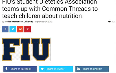 Miami Community Newspaper Feature: FIU Students Team up with Common Threads